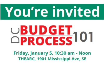 Join us for a DC Budget Process 101 Workshop